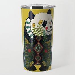 panda ochre Travel Mug