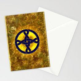 Celtic Knot Blue & Gold Stationery Cards