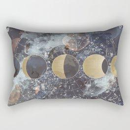 Lunar Phases Rectangular Pillow