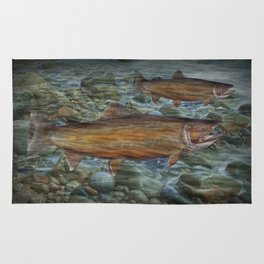 Steelhead Trout Migration in Fall Rug