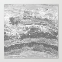 Real Gray Marble Canvas Print