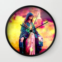 Holy Mother Bright! Wall Clock