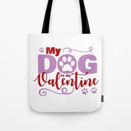 Dog Valentine Tote Bag
