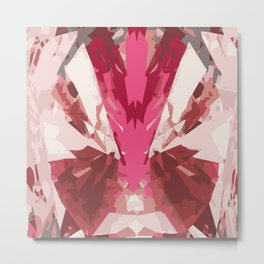 Crystalised Pink Metal Print