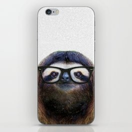Hipster Sloth iPhone Skin