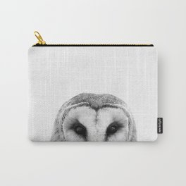 Black and white Owl Carry-All Pouch