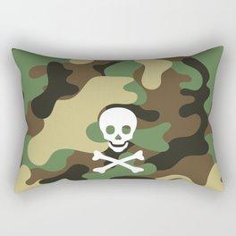CAMO & WHITE SKULL Rectangular Pillow