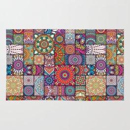 Boho Patchwork Quilt Pattern 2 Rug