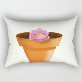 Pretty pink flower in a pot Rectangular Pillow