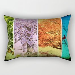 Four Seasons One Picture Rectangular Pillow