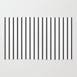 BLACK TICKING STRIPES (Vertical) - Mix & Match Rug