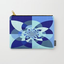 Blue Kaleidoscope Carry-All Pouch