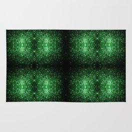 Glamour Dark Green glitter sparkles Rug