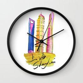 Fan' city landmarks illustration: sweet hometown-Shanghai Wall Clock