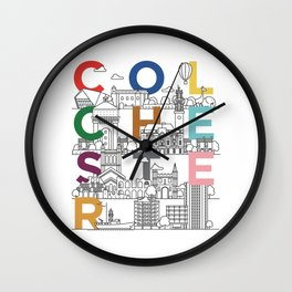 Colchester Town - Typoline Cities Wall Clock