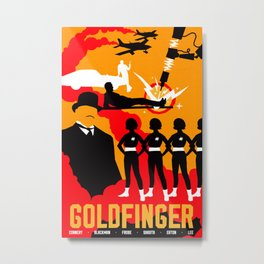 James Bond Golden Era Series :: Goldfinger Metal Print