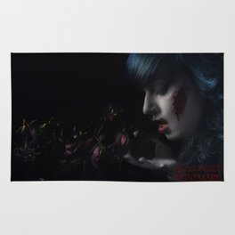 Halloween Nightmare Dead Flowers Rug