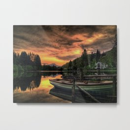 Spring Sunset On Loch Ard Metal Print