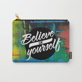 Color Chrome - believe in yourself graphic Carry-All Pouch
