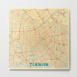 Tianjin Map Retro Metal Print