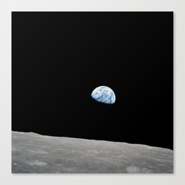 Apollo 8 - Iconic Earthrise Photograph Canvas Print
