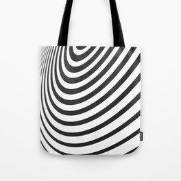 Black and White Minimal 3D Circle III Tote Bag
