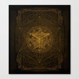 Dark Matter - Gold - By Aeonic Art Canvas Print