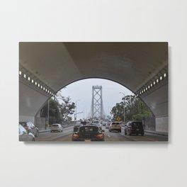 San Francisco Bay Bridge as seen from inside tunnel Metal Print