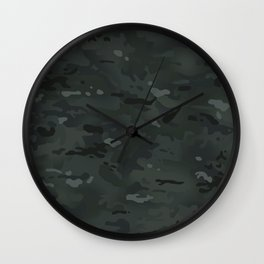 Camouflage: Black Wall Clock