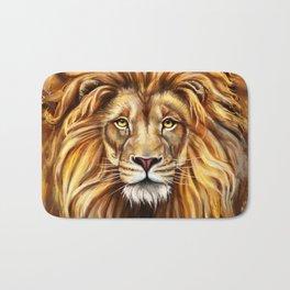 Artistic Lion Face Bath Mat