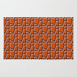 8-bit bricks Rug