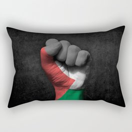 Palestinian Flag on a Raised Clenched Fist Rectangular Pillow