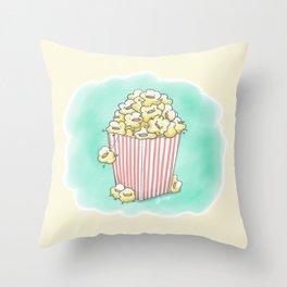 Buck-Corn Chicken Throw Pillow