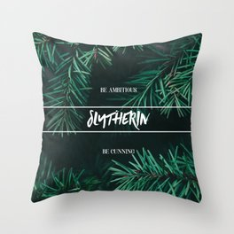 Slytherin Throw Pillow