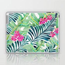 Lush Tropical Fronds & Hibiscus Laptop & iPad Skin