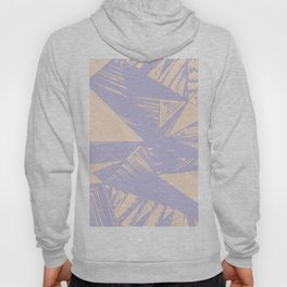 Modern lilac ivory violet geometrical shapes patterns Hoody