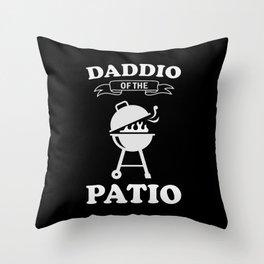 Daddio Of The Patio Throw Pillow