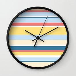Rushcutters Bay Stripe Wall Clock