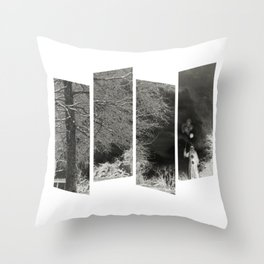 Coulrophobia Woods Throw Pillow
