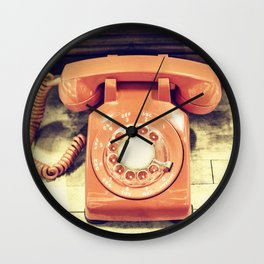 Vintage Phone Wall Clock