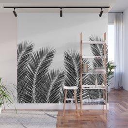 White Palm Skies Wall Mural