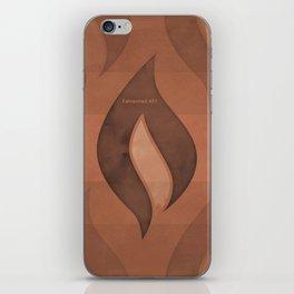 "Ray Bradbury ""Fahrenheit 451"" - Minimalist illustration literary design, bookish gift iPhone Skin"