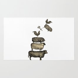 Farm Living - Stacked Animals Rug
