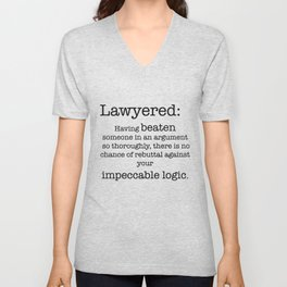 Lawyered Unisex V-Neck