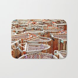 Traditional Lobster Traps Bath Mat