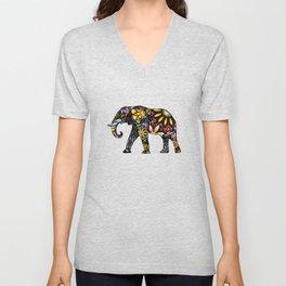 Aztec Elephant Unisex V-Neck