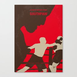 No723 My Southpaw minimal movie poster Canvas Print