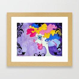 Watercolour Clown with Big Lips Framed Art Print