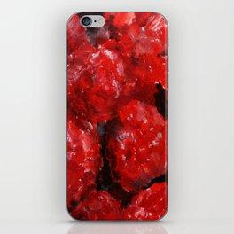 Raspberries - Still Life In Acrylics Original Fine Art iPhone Skin