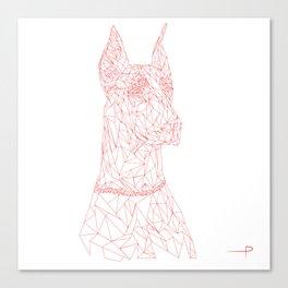 vector doberman Canvas Print